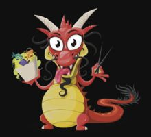 Lovely Dragon Vector Graphic Animinated Image Kids Tee