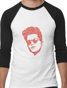 bruno mars thypography RC Men's Baseball ¾ T-Shirt