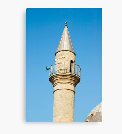 A mosque and turret in old Akko.  Canvas Print