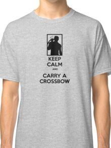 Keep Calm and Carry a Crossbow - Black Classic T-Shirt