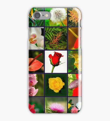 Square collage of 25 image of flowers iPhone Case/Skin