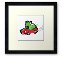 MOTHER 3 FROG IN A CAR - earthbound Framed Print