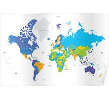 Political world map Poster