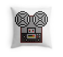 Reel-To-Reel Tape Recorder Throw Pillow