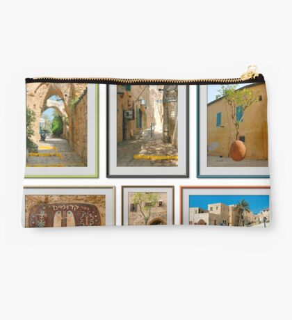 collage of Jaffa, 6 image  Israel Studio Pouch