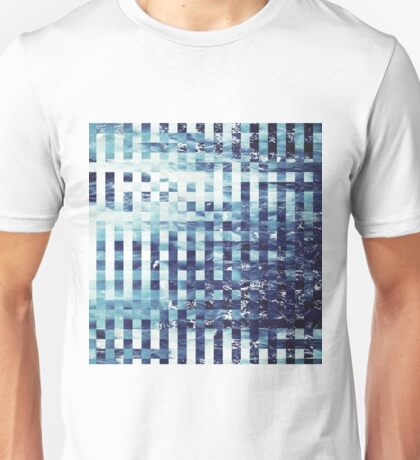 Abstract sea pixel pattern  Unisex T-Shirt