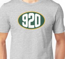 Green Bay 920 Area Code Unisex T-Shirt
