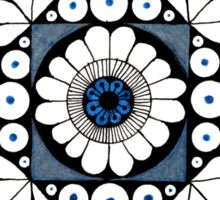 Mandala #1 Blue and Black Sticker