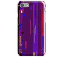 Glitch background iPhone Case/Skin