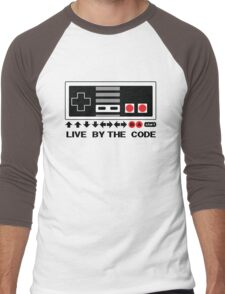 Nintendo Konami - Live by the Code (NES) Men's Baseball ¾ T-Shirt