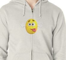 Funny Lovely Cute Bulb Emoji For Emoji Lovers Zipped Hoodie