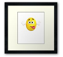 Funny Lovely Cute Bulb Emoji For Emoji Lovers Framed Print
