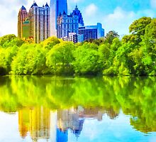 City In The Trees - Atlanta Midtown Skyline by Mark Tisdale