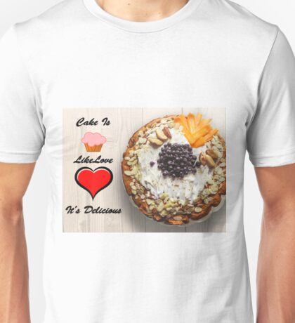 I love Cake Unisex T-Shirt