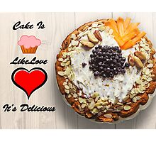 I love Cake Photographic Print