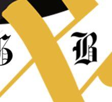Old Gold & Black Demon Deacon Logo Sticker