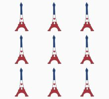 The Eiffel Tower Pattern Baby Tee
