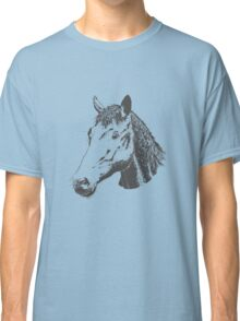 Cute Lovely Sketched Horses Classic T-Shirt