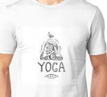 Girl in lotus yoga pose Unisex T-Shirt