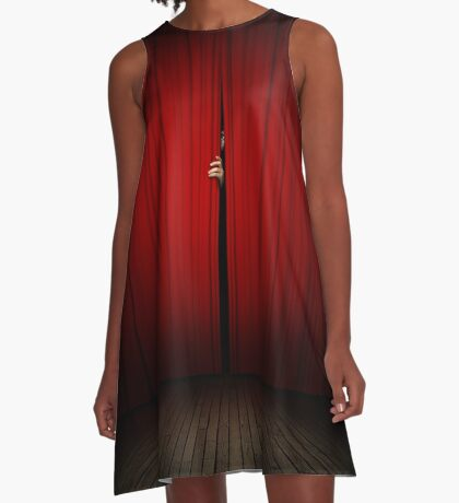 Behind the Curtain A-Line Dress