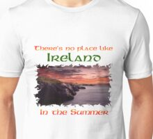 Irish cliffs sunset Unisex T-Shirt
