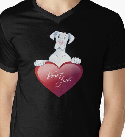 Valentine's Dane - Forever Yours Mens V-Neck T-Shirt