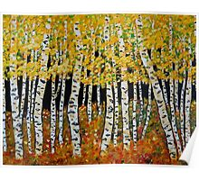 Aspen Grove  featuring Colorado Aspen Trees Painting Poster