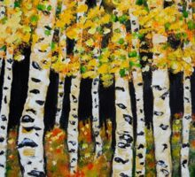 Aspen Grove  featuring Colorado Aspen Trees Painting Sticker