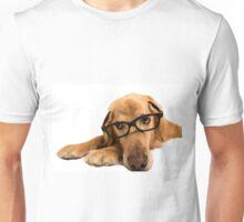 Golden Retriever with glasses Unisex T-Shirt