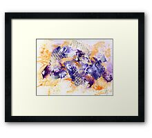 Purple and yellow abstract Framed Print