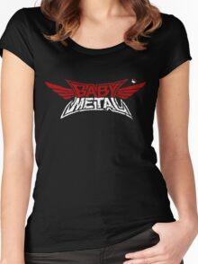 Babymetal - Logo en blanco y rojo Women's Fitted Scoop T-Shirt