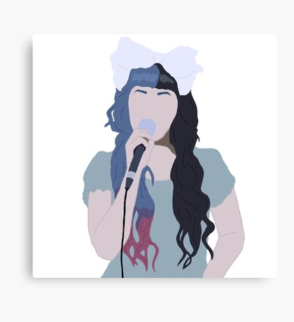 Minimalistic Melanie Drawing Canvas Print