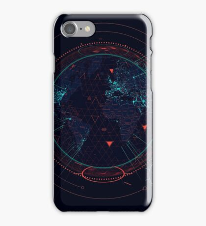 Sci-fi futuristic interface iPhone Case/Skin