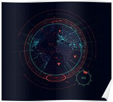 Sci-fi futuristic interface Poster