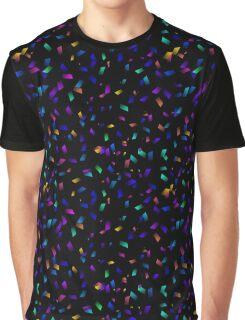 Bright colorful neon confetti on dark Graphic T-Shirt