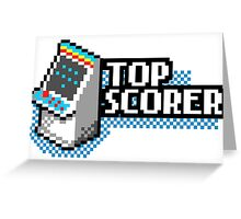 Pixel Arcade Top Scorer Greeting Card