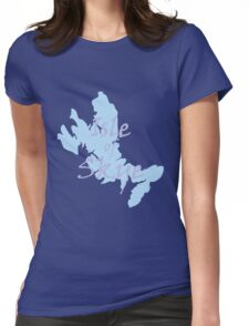 Isle of Skye Map with text Womens Fitted T-Shirt