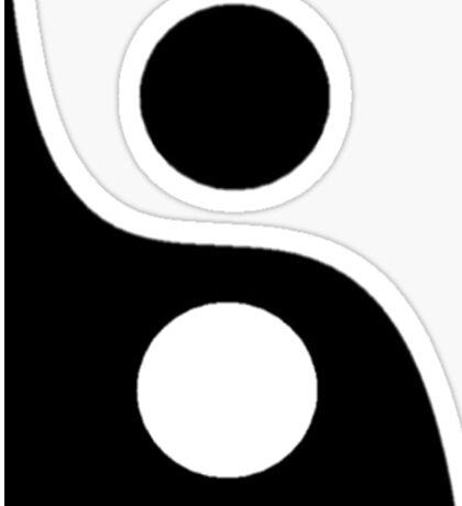 Yin and Yang. Sticker