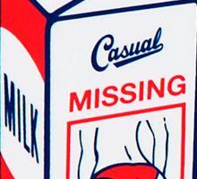 Casual Missing Milk Carton Sticker Sticker
