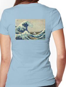 Hokusai, The Great Wave off Kanagawa, Japan, Japanese, Wood block, print Womens Fitted T-Shirt