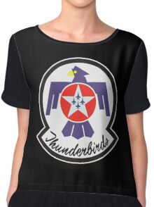 United States Air Force Thunderbirds crest Chiffon Top