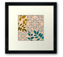 Leaves And Scrolls Framed Print