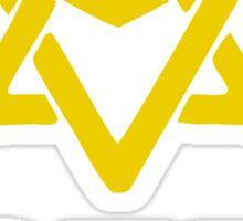 astro logo yellow Sticker