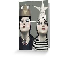 The Girls With Hats Greeting Card