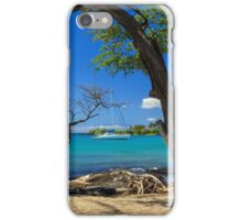 A Sailboat In Anaehoomalu Bay iPhone Case/Skin