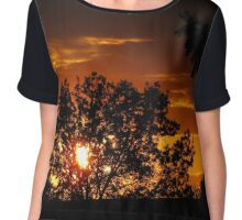 Golden Sunset Women's Chiffon Top