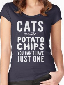 Cats are like potato chips. You can't have just one Women's Fitted Scoop T-Shirt