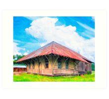 Railroad Blues - Old Train Station In Rural Lilly, Georgia Art Print