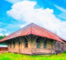 Railroad Blues - Old Train Station In Rural Lilly, Georgia by Mark Tisdale