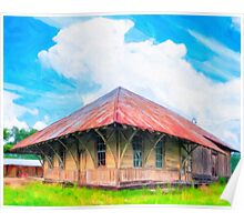 Railroad Blues - Old Train Station In Rural Lilly, Georgia Poster